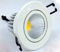 CE&RoHS 450LM AC85V~265V 5W LED COB Downlight High Power LED Chip 3 Years Warranty Free Shipping