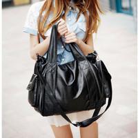 Casual large bag women handbag shoulder cross bag female vintage girl tote satchel black brown coffee colors