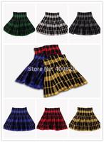 New 2014 Winter 2015 Spring 1950S Vintage Hepburn Classic England Style Scottish Tartan Plaid Slim High Waist Knitting Skirt