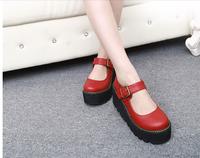 women high heels wedges platform shoes buckle strap hoof heels student leather shoes 32 33 41 42 40 sy-1011