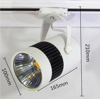 15W 25W COB LED Track light as shopping mall/ clothing store lighting lamp white housing color free shipping