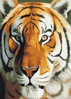 2015 New diy Square diamond full rhinestone diamond painting tiger animals decorative house wall crafts full whole embroidery