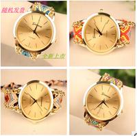 2015 new fashion  hot sale bracelet watch, Weaving watch,new listing, delicate DIY craft  Geneva watch dress watches ,free ship