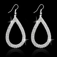 Design Water Drop Dangle Earring Gold Plated SWA Element Austrian Crystal Earrings Fashion Wedding Jewelry Ear Stud For Women