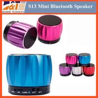 S13 Wireless Bluetooth Mini Portable Speaker Handfree Subwoofers Speakers For iphone 6 5c 5s Samsung Phone MP3 HiFi MIC TF Card
