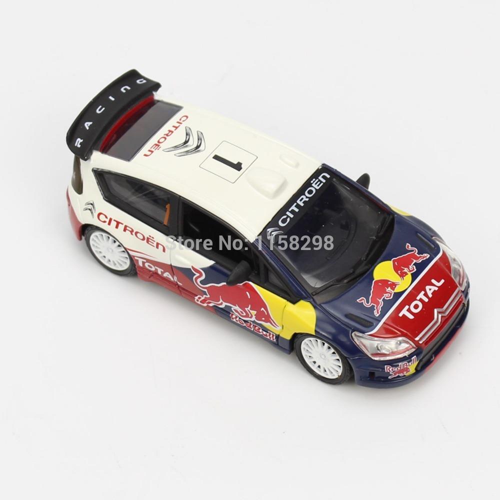 New 1:43 Scale Car Diecast Model CITROEN Racing Car C4 WRC NO.1 Auto Display Toy(China (Mainland))