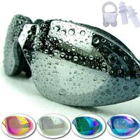 New Arrive Men and Women Electroplating Waterproof Anti-Fog Eyewear Glasses Big Box UV Matt HD Authentic Swimming Goggles