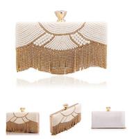 Diamond women evening clutch bags tassel pearl evening bag crystal brand design evening bags for ladies fashion handbags