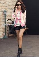 2014 NEW fashion Korean female Slim solid suit coats women OL Casual jacket Blazers