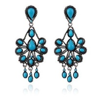 20% discount of 3pcs or more  brand new high quality Retro teardrop-shaped tassel   earrings