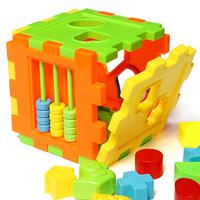 3 sets/Lot  _ Baby Children Matching Sorting Building Blocks Box Intelligence Toy