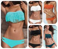 Victoria Styles Women Tassels Bikinis Set Sexy Bikinis Swimsuits Many colors for choose S M L