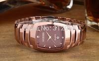 New arriving authentic waterproof sapphire  fashion  tungsten steel rose gold  diamond  retro man wrist watch
