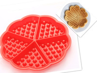 waffle biscuit silicone mould  - dia8cm flower wafer / Cake Mould Baking Tools,Bakeware-wholesale 10pcs/lot