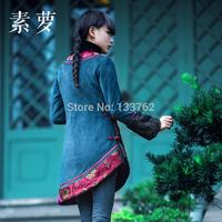 Mountain original design trend women's national 2014 wadded jacket long-sleeve top outerwear
