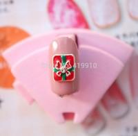 Free Shipping!50pcs Alloy Green And Red Oil Rhinestone Christmas Anchor Nail Decoration DIY Origami Floating Nail Art D2560