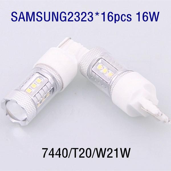 T20 7440 W21W 16SAMSUNG2323 16W led rear tail turn signal lamp for Fit Accord Civic Platinum CoreTeana X-Trail Bluebird 08Tiida(China (Mainland))