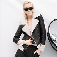 Womens Leather Jackets And Coats Full Solid Thick Streetwear Faux Leather Regular Jaquetas De Couro Feminina Leather & Suede