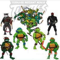 TMNT Teenage Mutant Ninja Turtles Action Figures Dolls 10-11cm Anime toys 6pcs/lot cartoon toy
