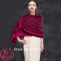 2014 Fashion Winter Scarf Women Brand Designer 100% Cashmere Letter Printed Scarves Square Shawl Desigual Scarfs Chrismas Gift