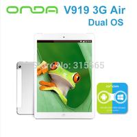 ONDA V919 3G AIR 9.7'' Retina 2048*1536 MTK8392 Octa Core 2GB/16GB Android 4.4 3G WCDMA GPS OTG Bluetooth