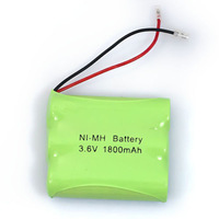 New Universal NIMH 3.6V 1800mAh 3x AA Cordless Phone Rechargeable Battery Pack