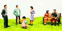 6  pcs free shipping 1:30 scale Painted Figures model miniature people