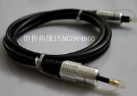 Wholesale TOSLINK to the 3.5 party on the cylindrical fiber line computer power amplifier audio line 3m 2pcs/lots