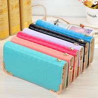 2014 Hot selling  key wallets bag PU Leather fashion designer Rivet bag women wallet Bag fashion women's clutches free shipping