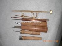 8pcs various Violin tools,sound post retriever/setter/Gauge ,cutter,scraper