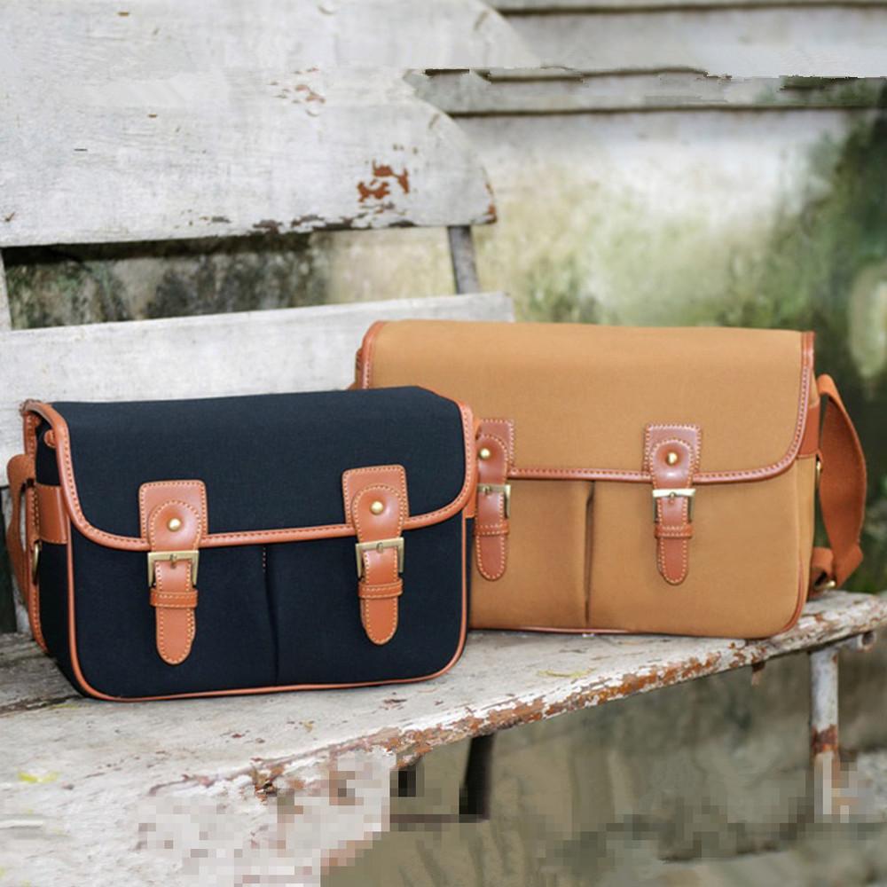 Vintage canvas Leather camera bag Messenger bag for DSLR Camera and lens(China (Mainland))