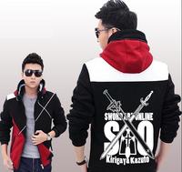 High Quality Anime Sword Art Online Jacket Hoodied Coat Unisex Hoody
