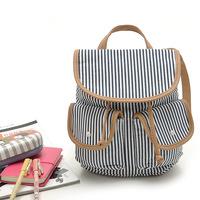 Korean version of the  casual cute mini backpack canvas shoulder bag