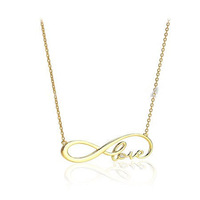 Gold/Silver/ Infinity Love Necklace  Metalwork simple Metal  bff wedding
