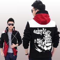 One Piece Coat Jacket Zipper Unisex Coat Sweatshirts High Quality
