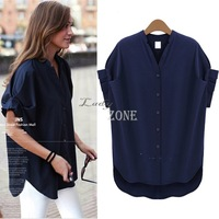 women blouse blusas blouses femininas big plus size women clothing summer casual chiffon clothes tops B11 CB032996