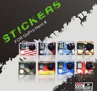 American / UK / France / German / European Union Flag bunting Case Sticker gopro Camera Stickers For Gopro Hero 4 hero4