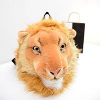 3D Animal Tiger Lion Mini Plush Backpack Lifelike Tiger Mochilas Infantis Backpack Novelty Mini Backpack For Child