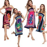 2014 hot Design Sexy Sundress Women backless loose long waist high Summer Dress vestido vintage casual strapless Beach Dress