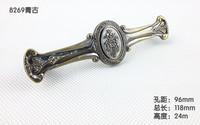 2014 cabinet drawer handle Green ancient European antique furniture hardware 96cm