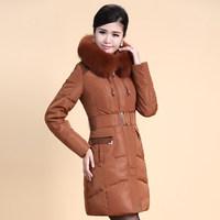 2014 Winter Thicken Warm Woman Down jacket Hooded Coat Parkas Outerweat Luxury Cold Fox Fur collar Plus Size 4XXXXL Long Black