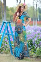 3XL 4XL 5XL 6XL Women Summer dress   Print Dress 2014 Roupas Femininas plus size Vestido Longo women clothing  Long Dress