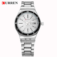 Hot Recommend CURREN Brand Fashion Luxury Men's Clothing Business Casual Watches Automatic Date Steel Quartz Movement Watch