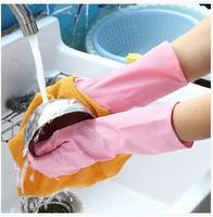 Free shipping Household Gloves / Kitchen water resistant latex dishwashing gloves 10pcs/lot