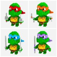 32pcs/lot DHL Free LOZ Diamond Blocks Builing Bricks Educational DIY Set Toys for Children Gift Donatello Raphael Michelangelo