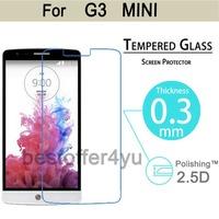 2pcs/lot Explosion-proof Anti Shatter Premium Tempered Glass Screen Protector Guard film For LG G3 mini D722 D725 D728 D724