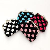 drop shipping 2014 new wholesale plush love dot fabric iron buckle bag purse