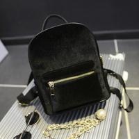 Velour Fashion Women Mini Backpack Pleuche Women Bolsas Mochilas Femininas Gift Casual Backpack For Girls