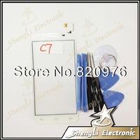 10pcs/lot White Original Touch Screen Digitizer Glass For Alcatel One Touch Pop C7 Dual 7040D 7040E 7041D + Open Tools
