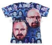 Hot sale New fashion 2014 Mens/Womens Short Sleeve Faces of Meth  3D Fun T-shirt Women Men Tops T-shirt S M L XL XXL